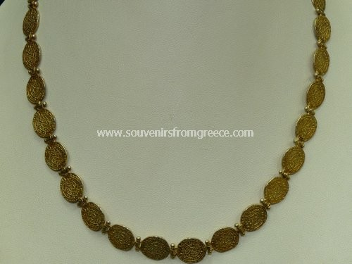 DISCUS OF PHAISTOS GREEK NECKLACE Greek jewellery Necklaces