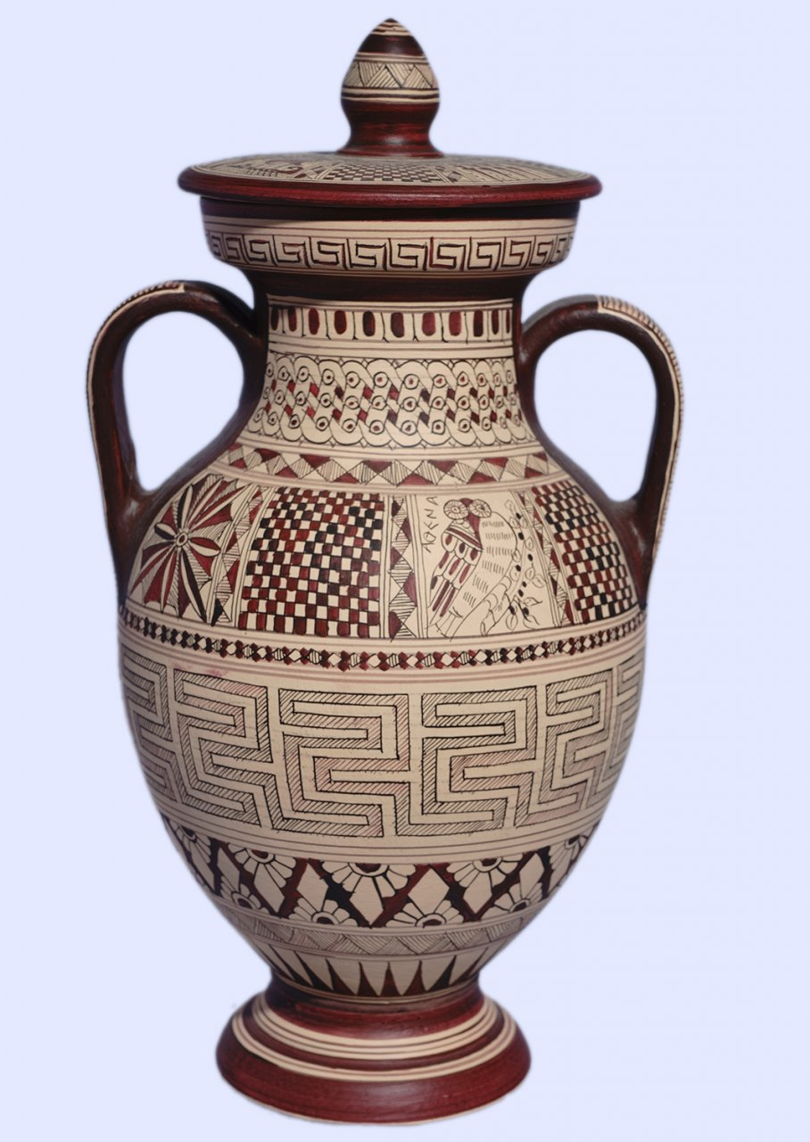 Large Attic amphora with geometric decoration