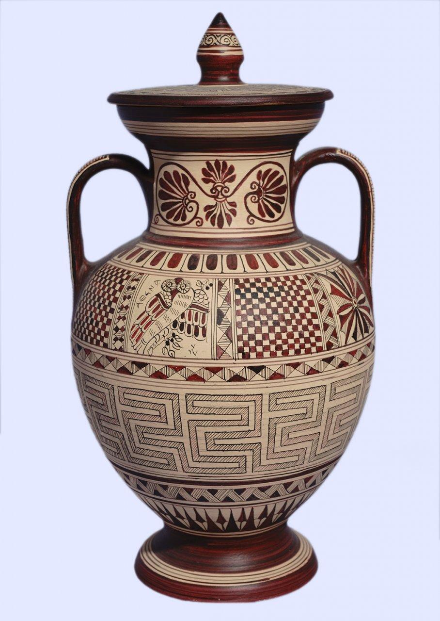 Medium size Attic amphora with geometric decoration