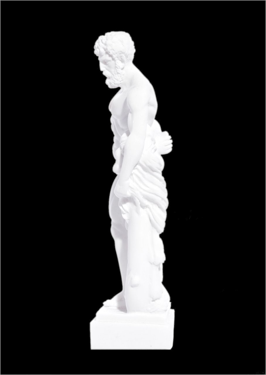 Hercules greek alabaster statue