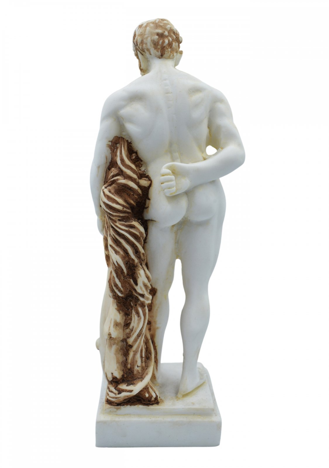 Hercules greek alabaster statue with color