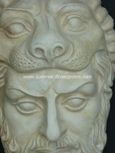 Hercules small plaster greek mask : Greek masks : Greek statues : 10253