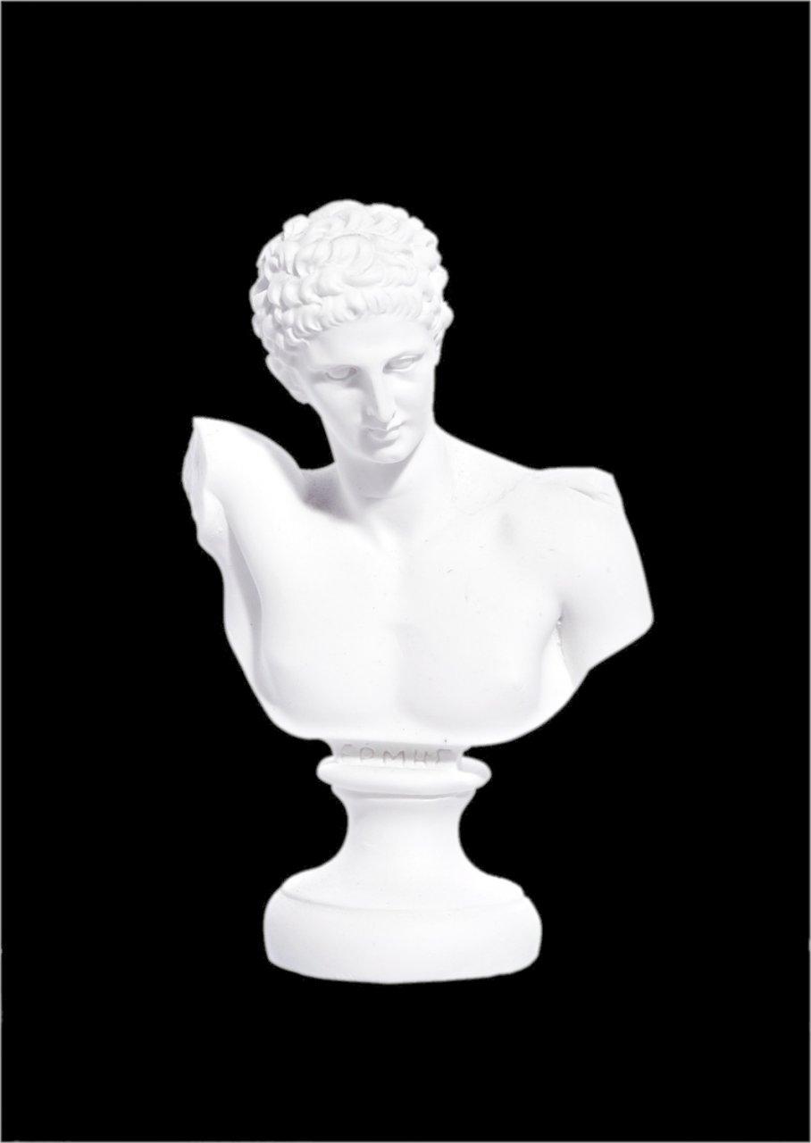 Hermes alabaster bust statue