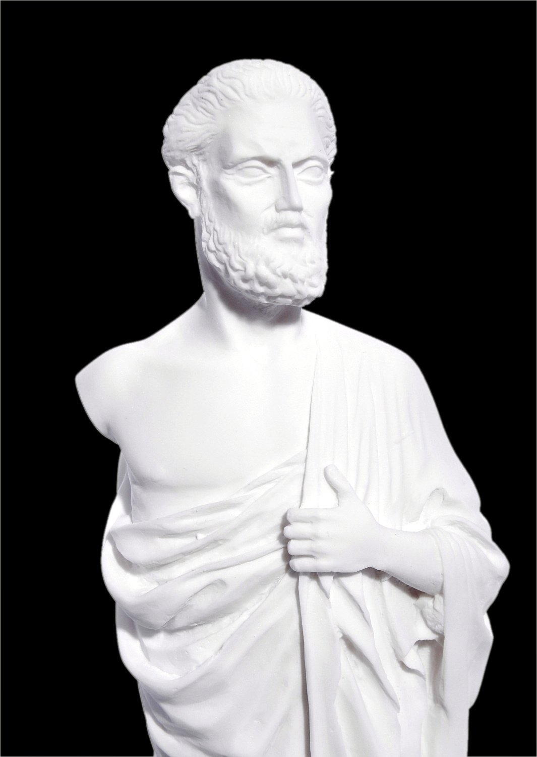 Hippocrates small greek alabaster statue