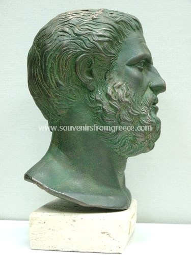 Hippocrates (Ippokrates) greek plaster bust statue  Greek statues Greek Busts Sculptures