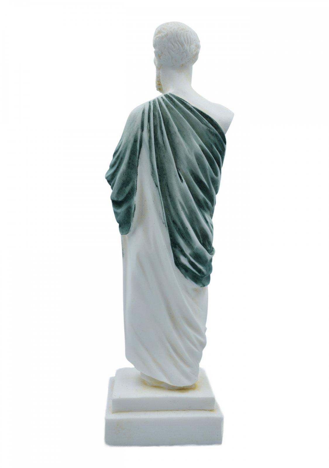 Hippocrates, greek alabaster statue with color