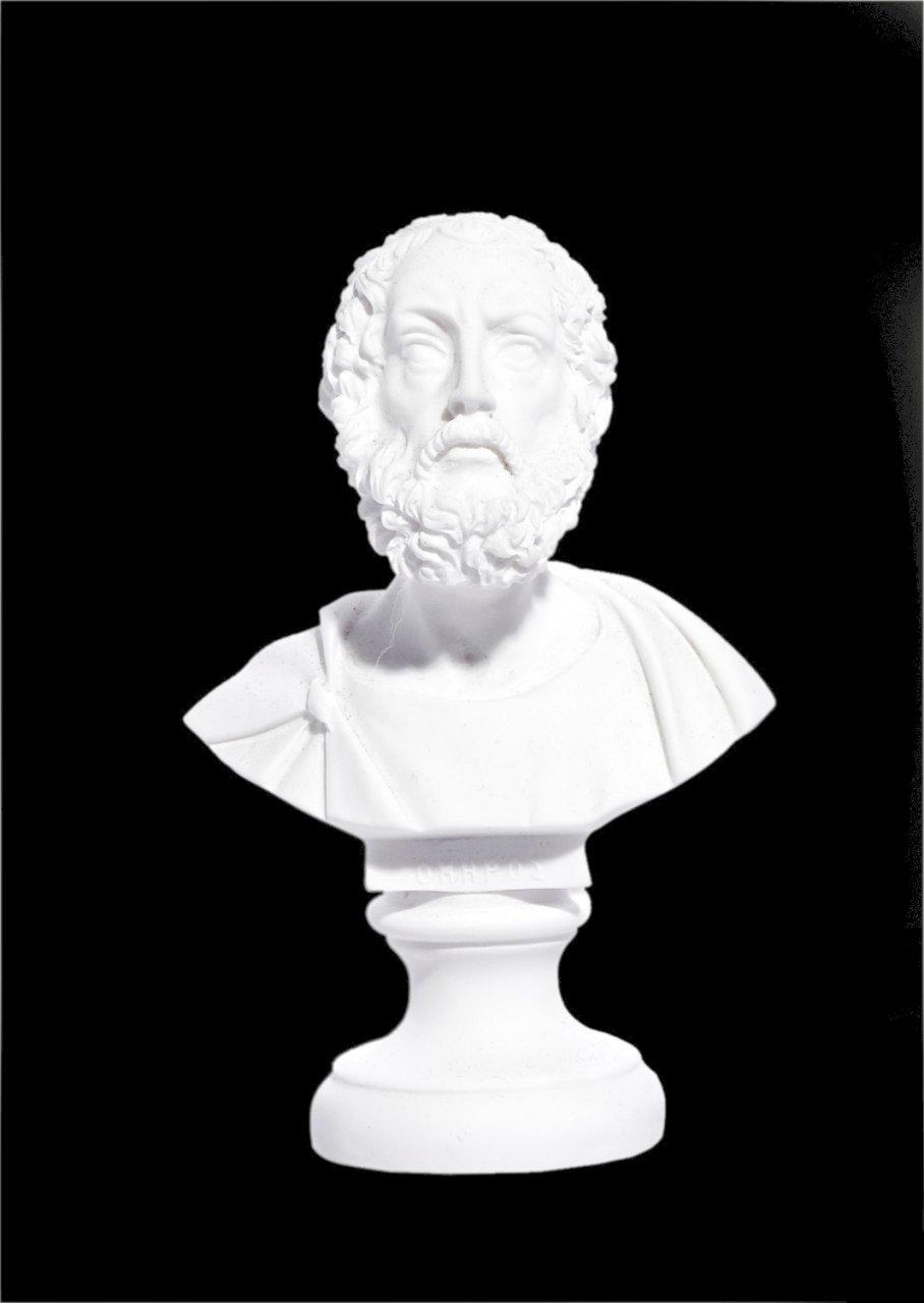 Homer alabaster bust statue
