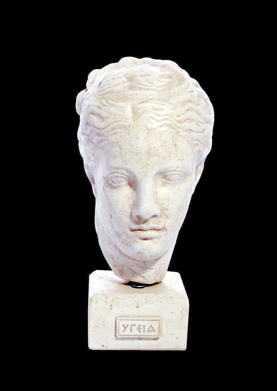 Hygea (Hygieia or Hygeia) greek plaster bust statue