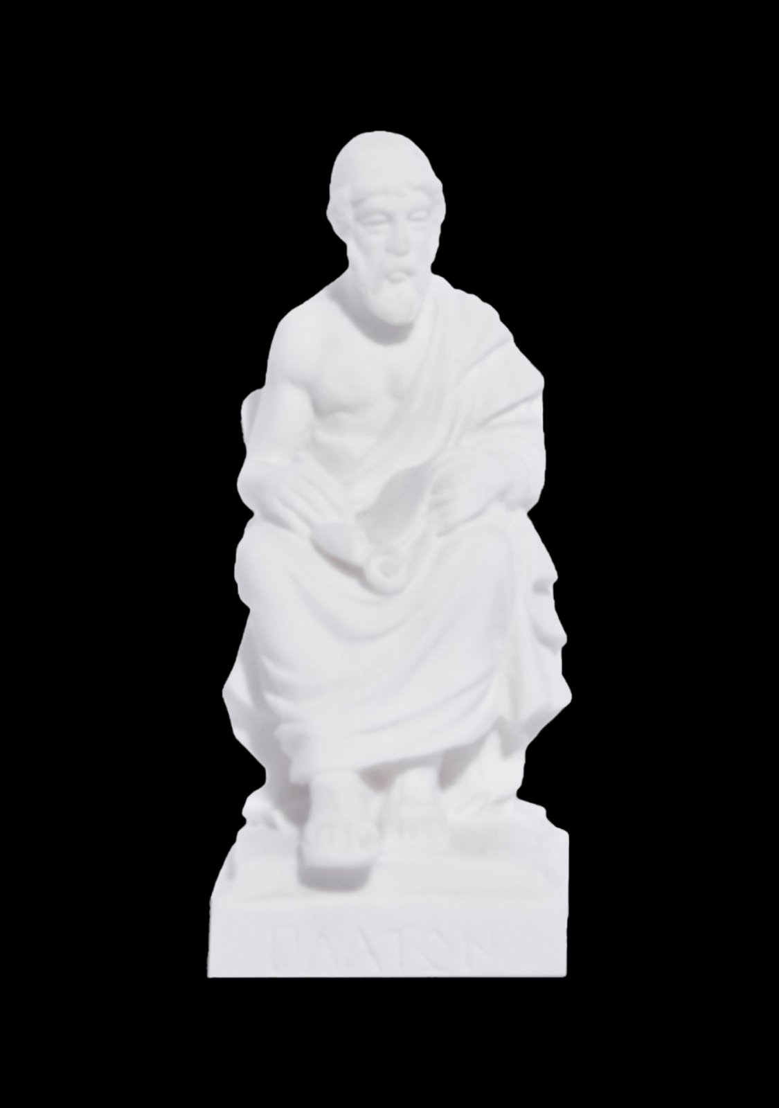 Plato greek alabaster statue