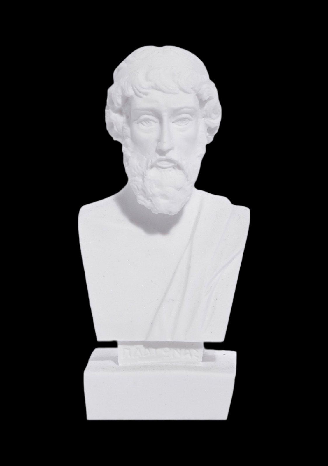 Plato greek alabaster bust statue