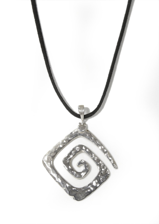 Greek Hammered Spiral Pendant