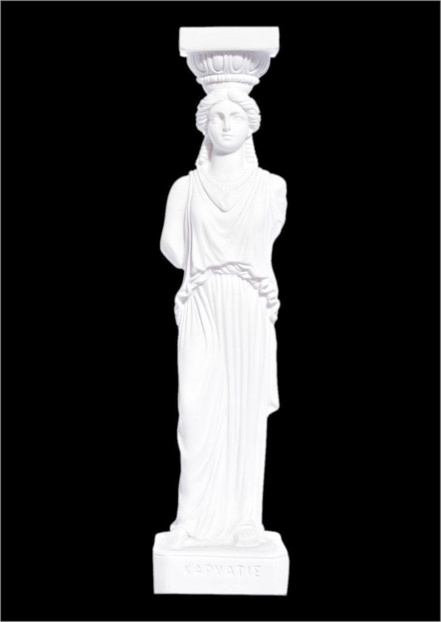 Small greek alabaster statue of Caryatid