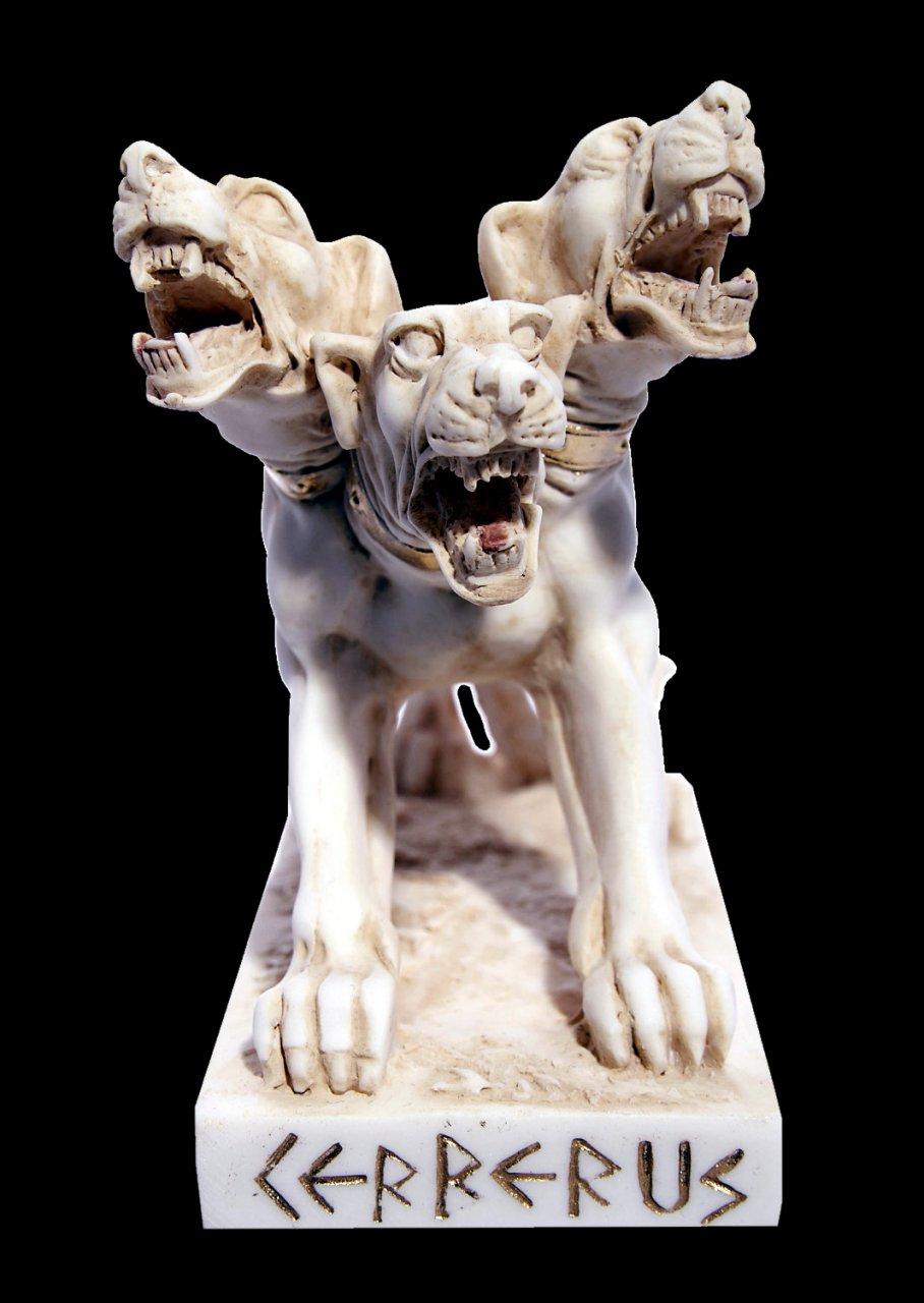 Cerberus greek alabaster statue