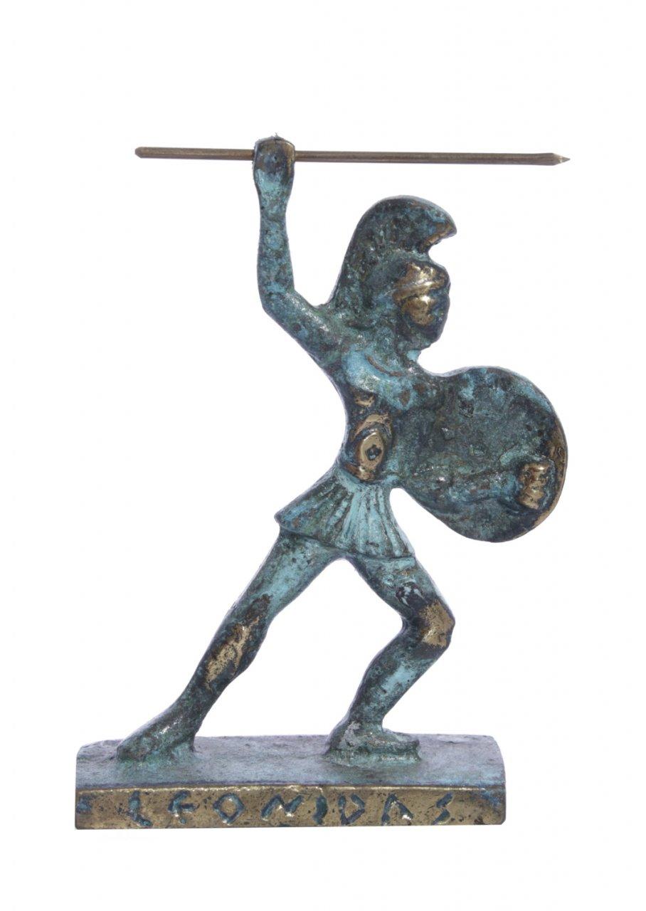 Leonidas king of Sparta greek bronze statue