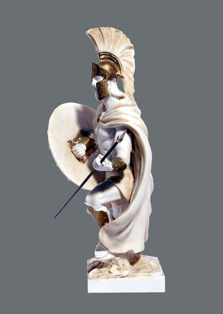 Leonidas king of the Sparta greek alabaster statue