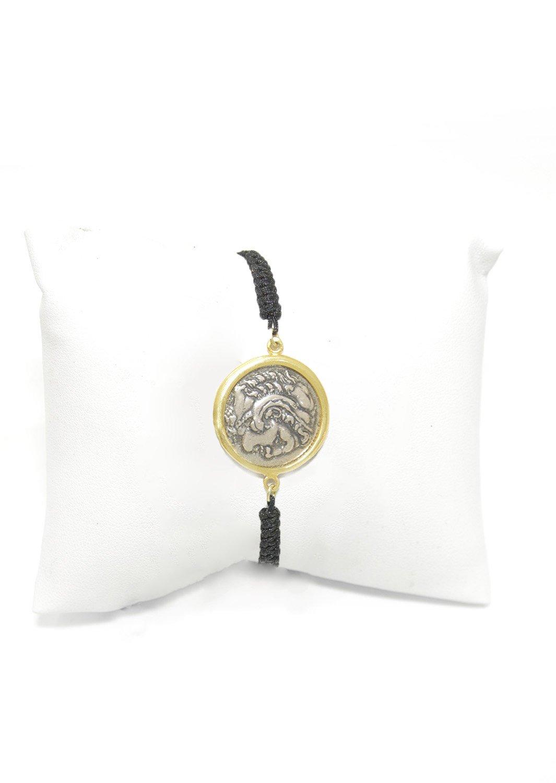 Alexander the Great gold plated - silver macrame bracelet