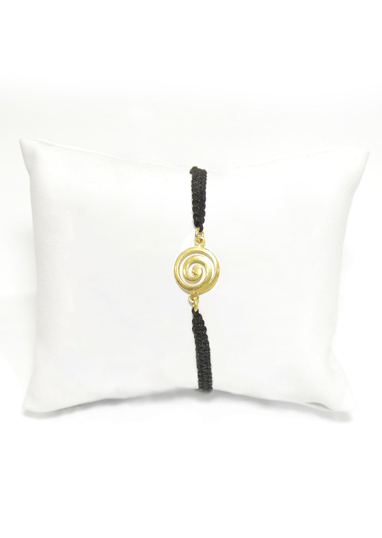 Greek spiral gold macrame bracelet