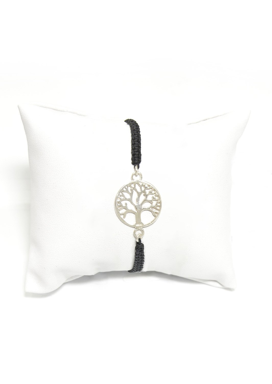 Tree of life silver macrame bracelet