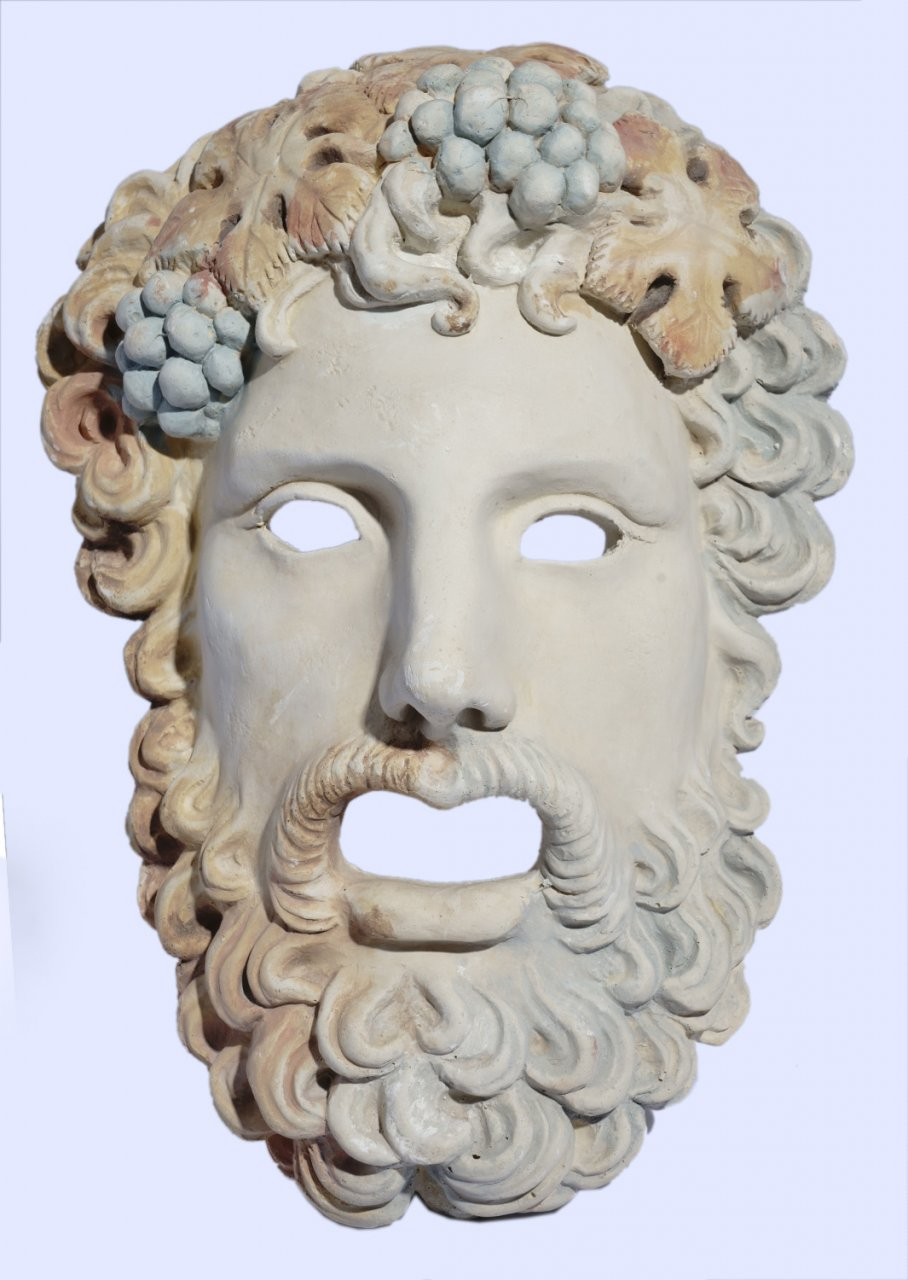 Dionysus medium greek plaster mask