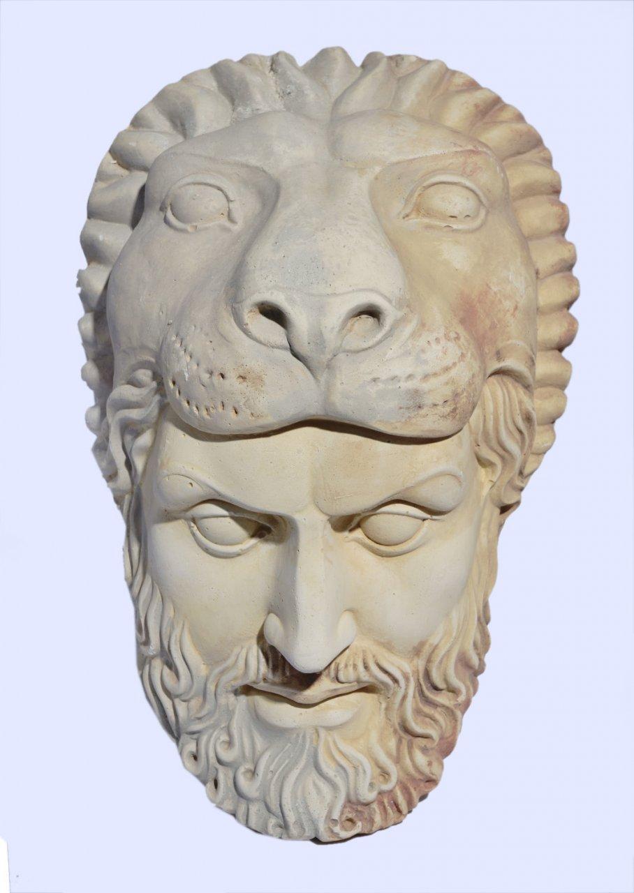 Hercules large greek plaster mask
