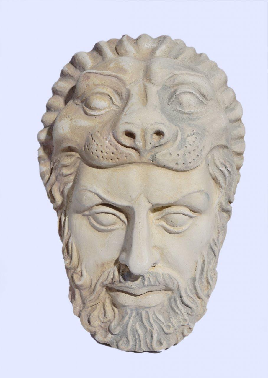 Hercules medium plaster greek mask