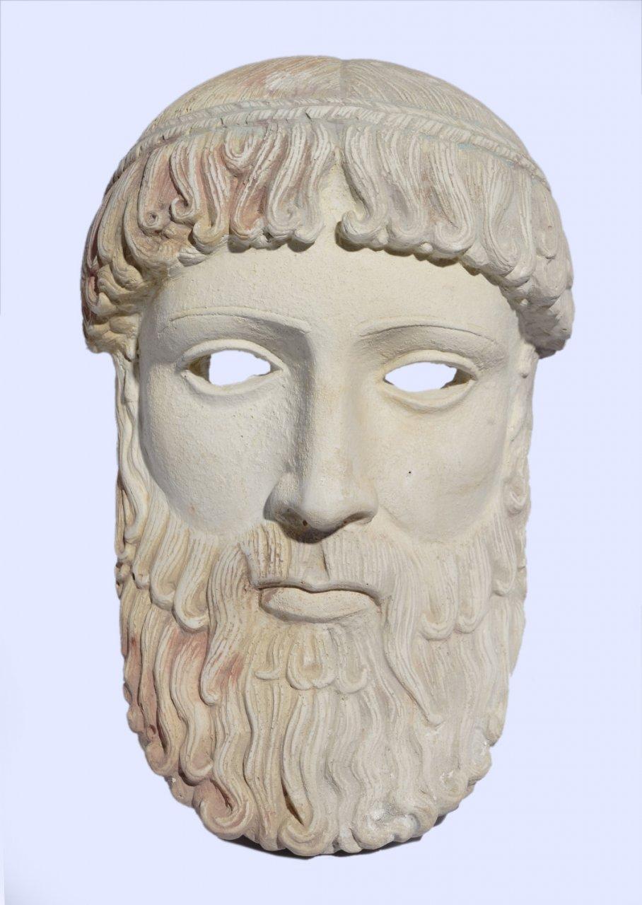 Poseidon large plaster greek mask