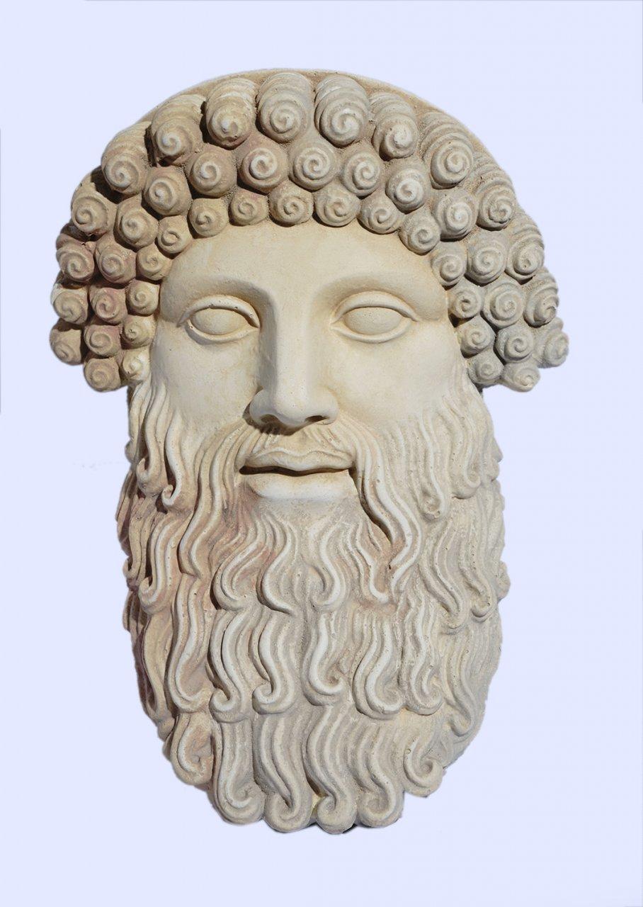 Zeus large plaster greek mask