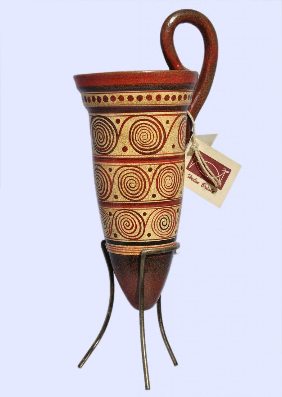 Minoan ceramic rhyton with spiral motifs