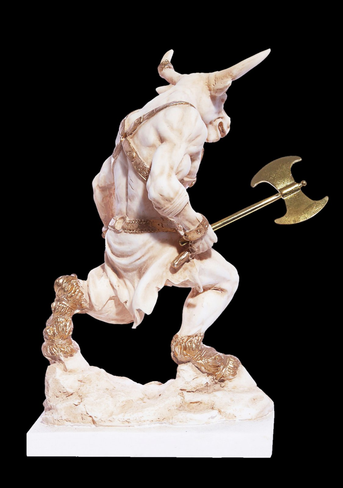Minotaur with axe greek alabaster statue