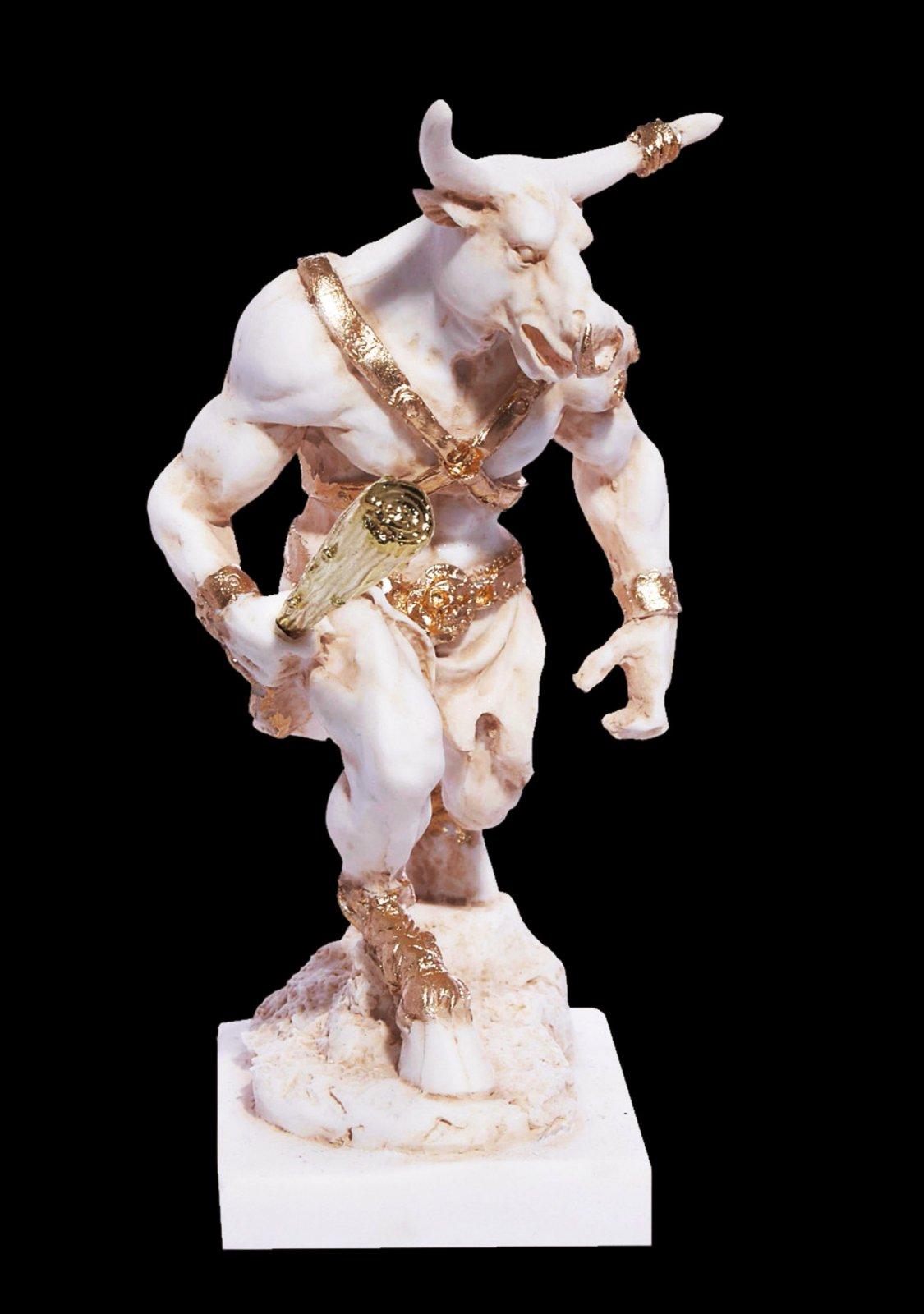 Minotaur greek alabaster statue