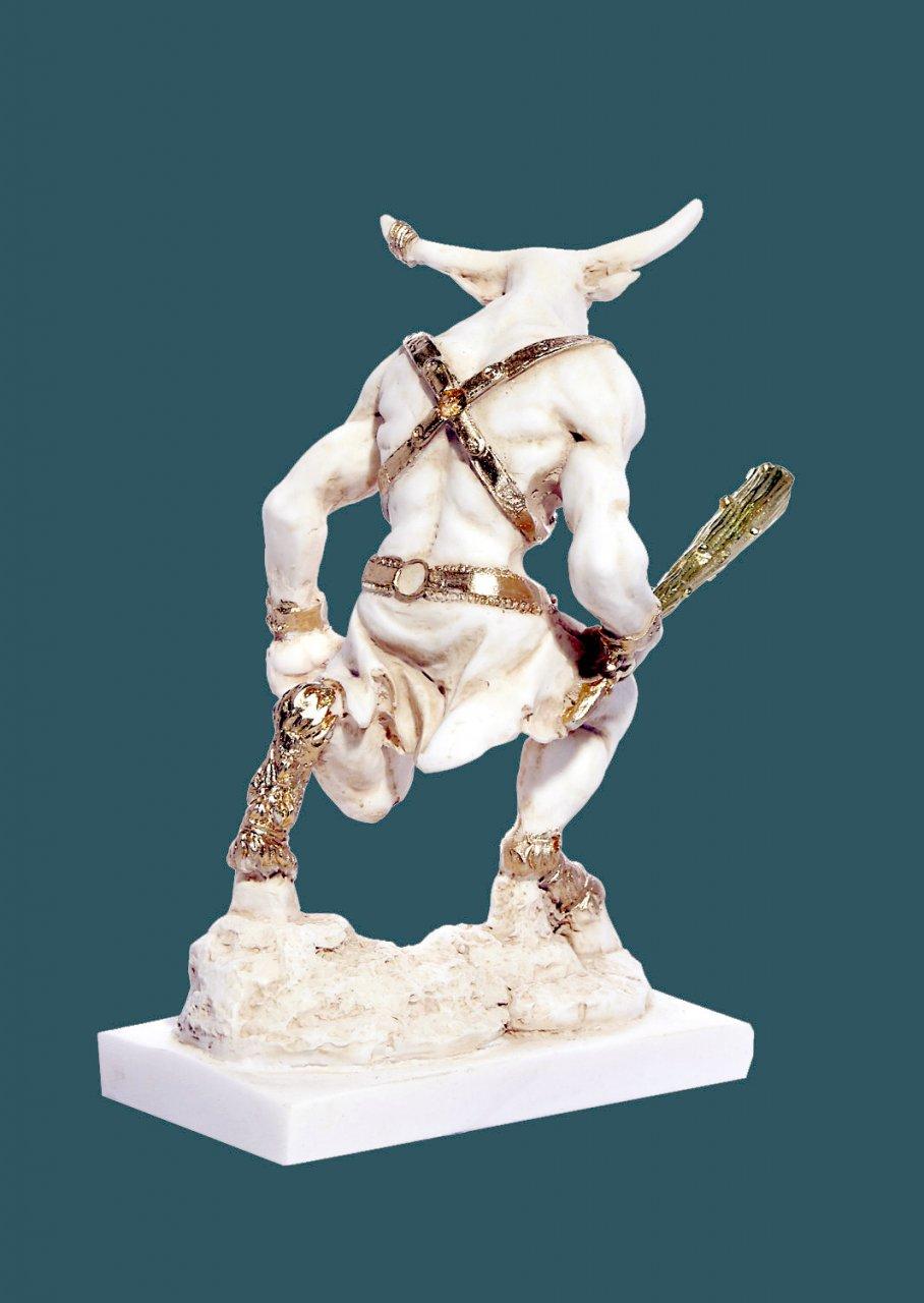 Minotaurus greek alabaster statue
