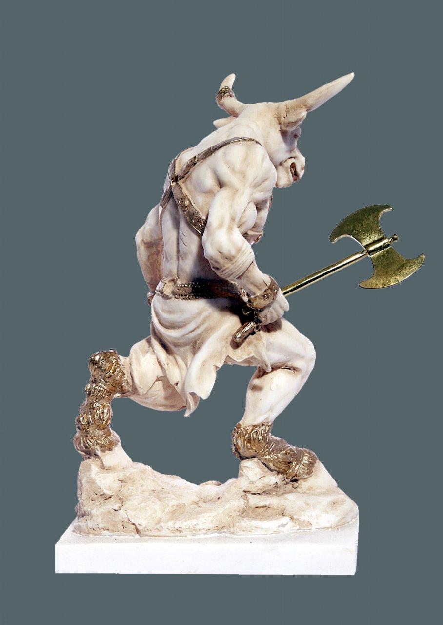Minotaurus with axe greek alabaster statue
