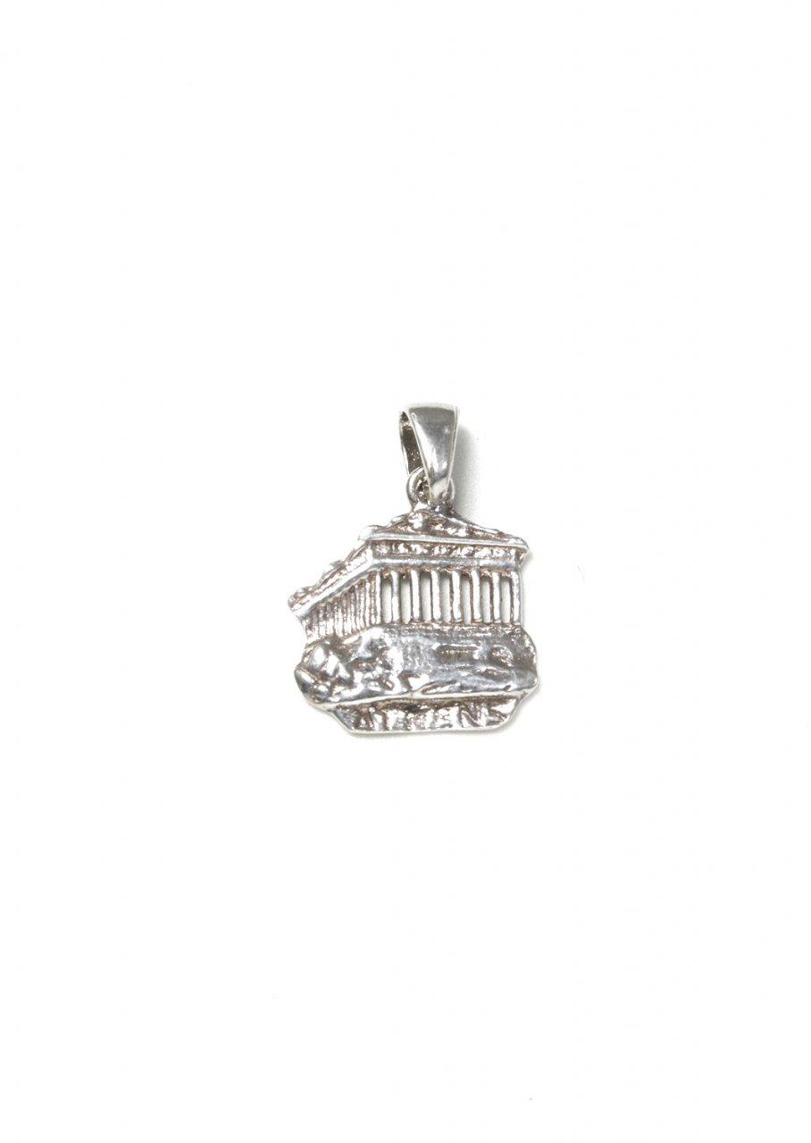 Parthenon of Acropolis greek silver pendant