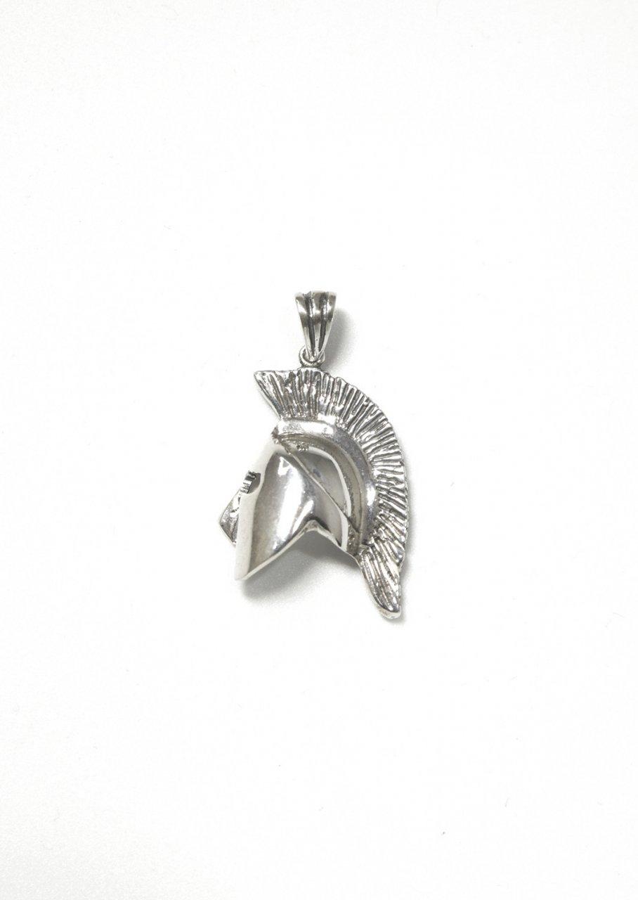 Spartan helmet greek silver pendant