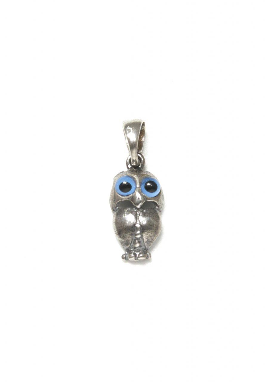 Owl small greek silver pendant