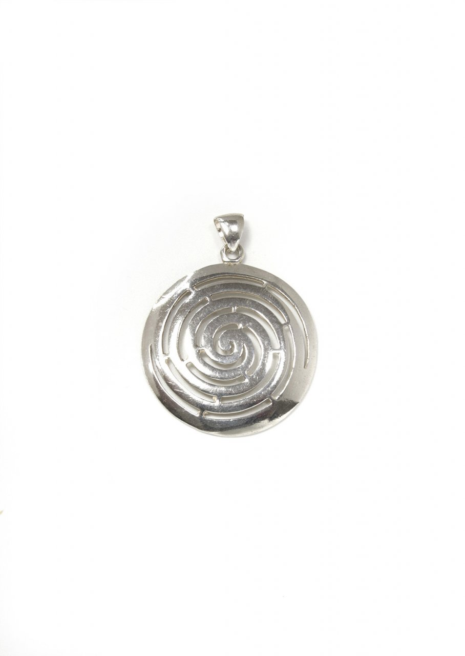 Small greek spiral pendant the symbol of life