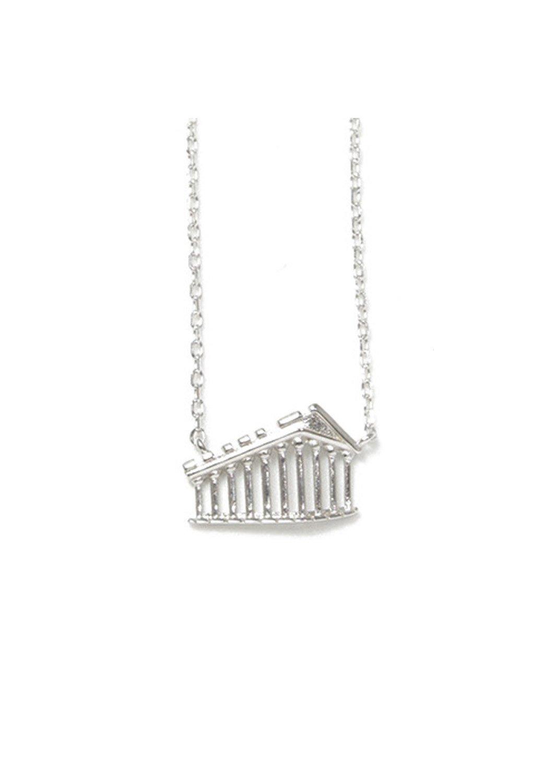 Parthenon of Acropolis silver necklace
