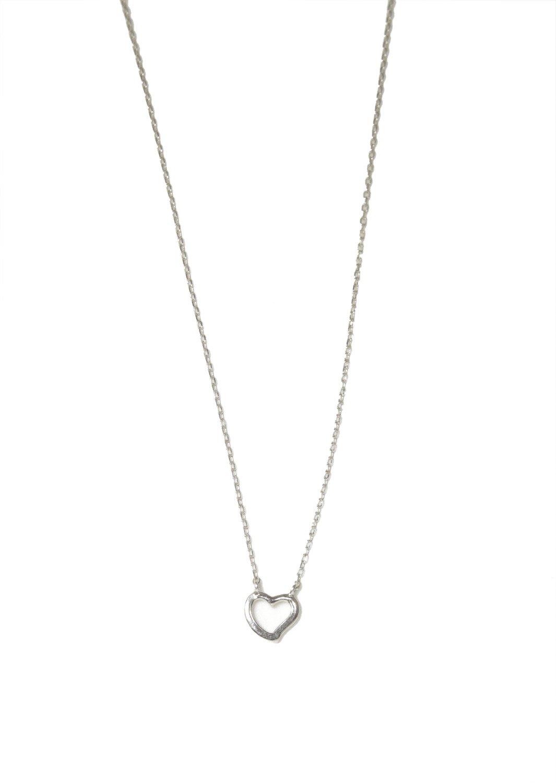 Heart pendant silver necklace