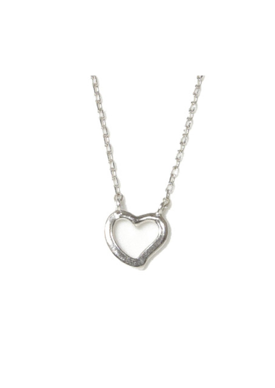 Heart pendant silver necklace