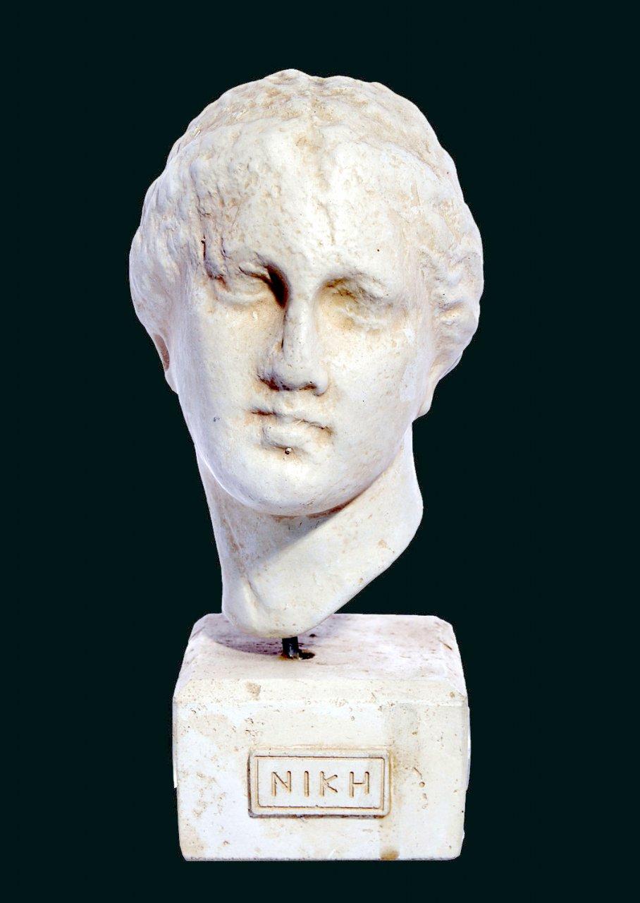 Nike greek plaster bust statue
