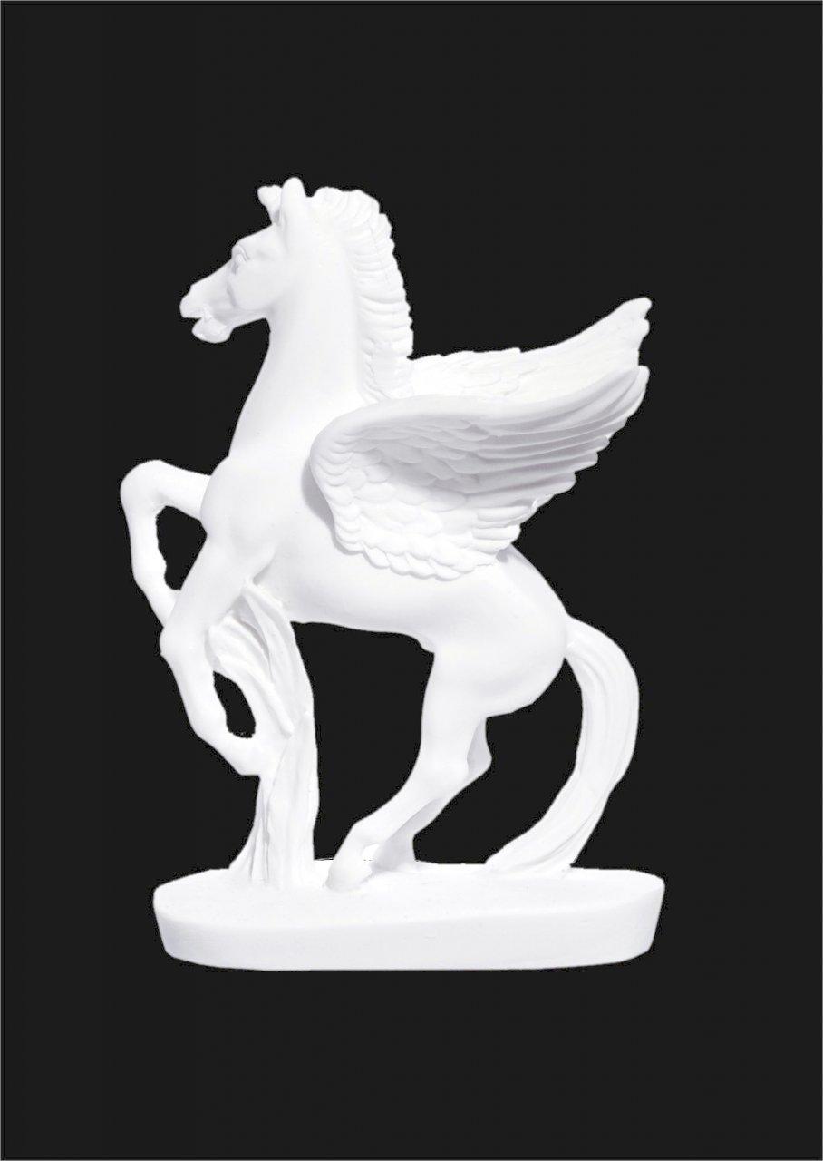Pegasus greek alabaster bust statue
