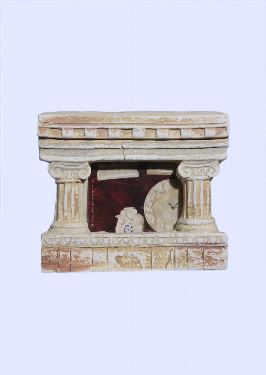 Greek small picture frame with Ionic columns