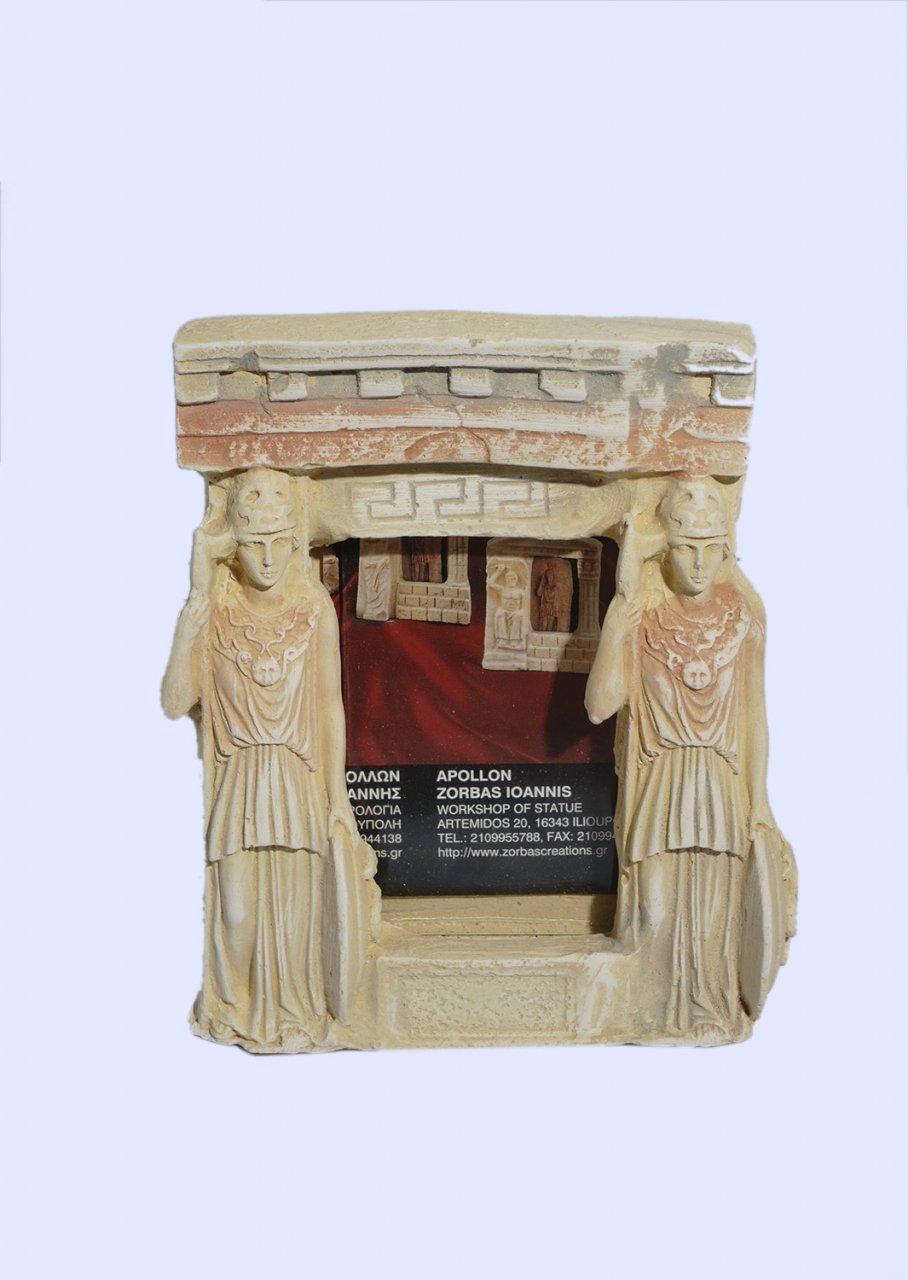 Greek picture frame with Athena goddess of wisdom