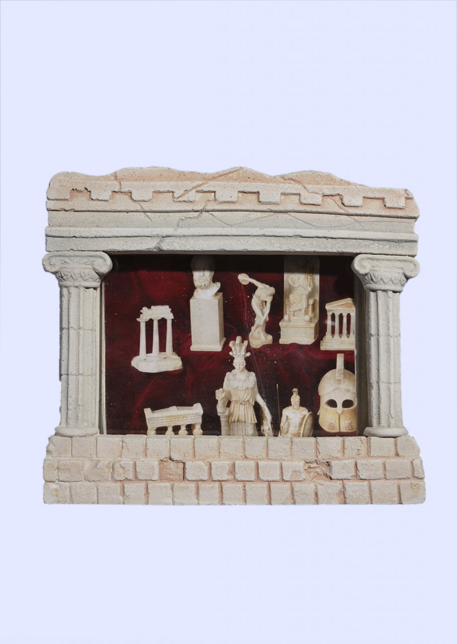 Greek picture frame with Ionic columns