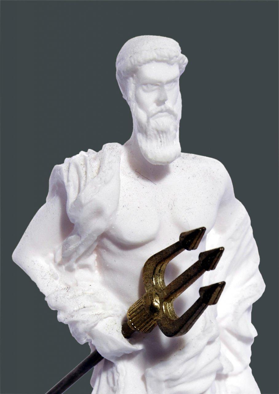 Poseidon greek alabaster statue