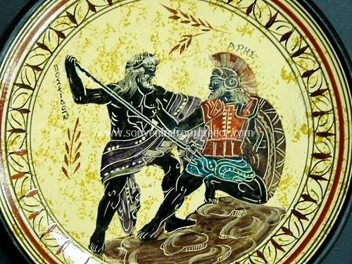 Poseidon And Ares Greek Ceramic Plate Free Designed