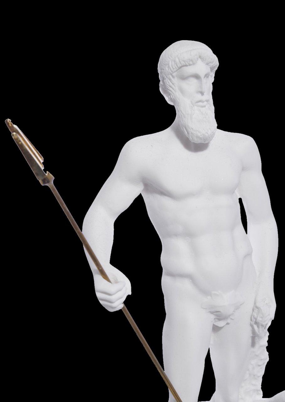 POSEIDON THE GREEK GOD OF THE SEA ALABASTER STATUE