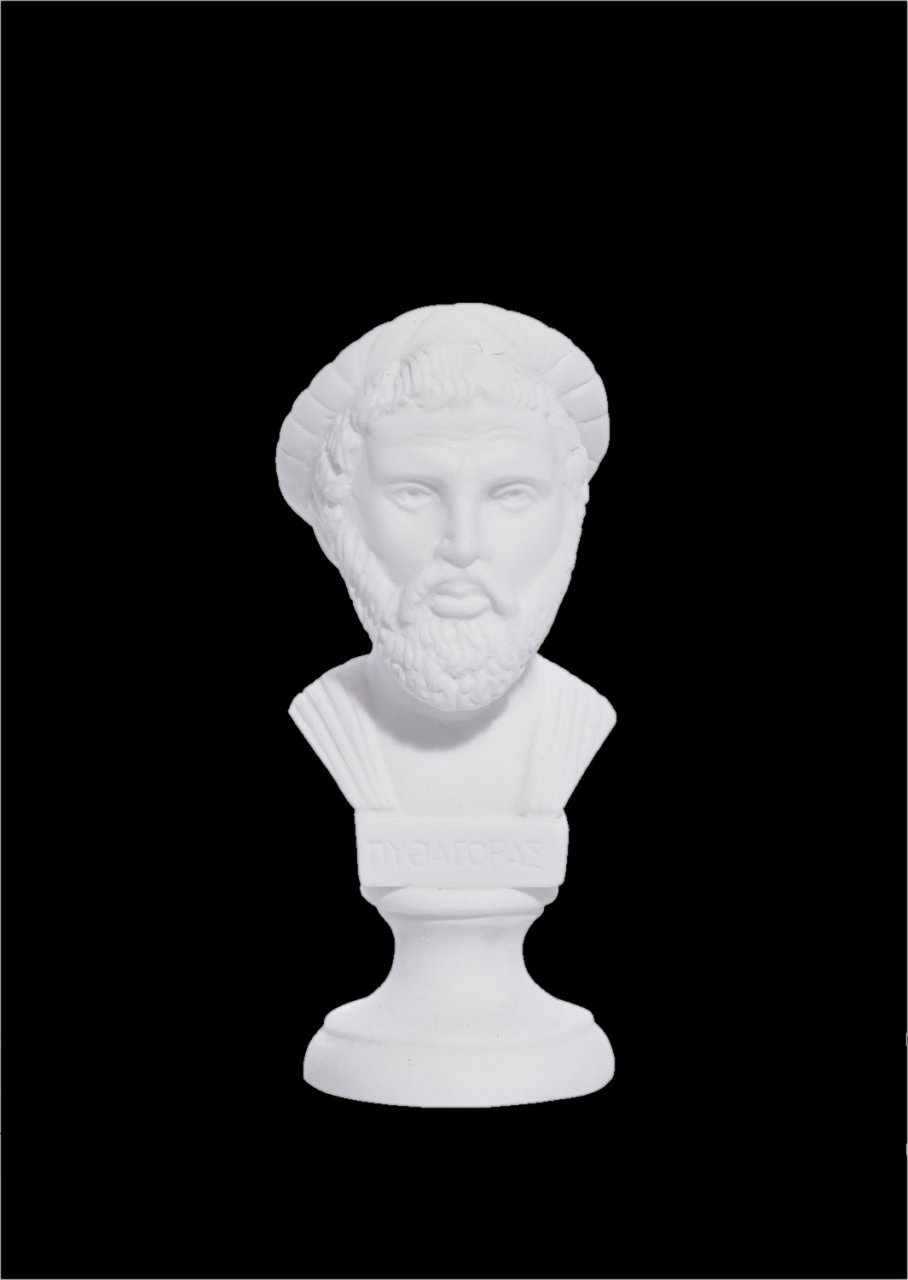Pythagoras alabaster bust statue