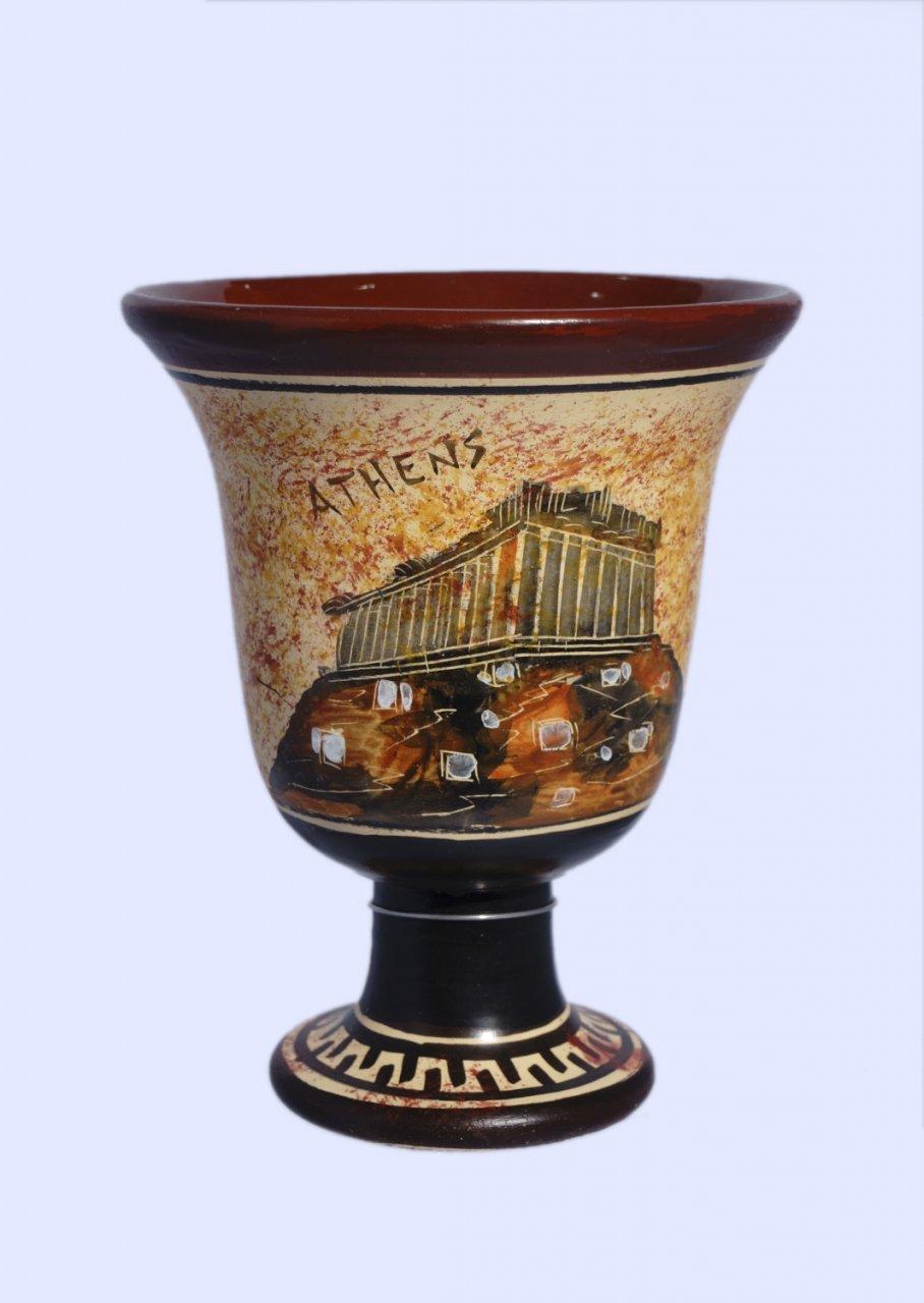Pythagoras Ceramic Cup with Acropolis