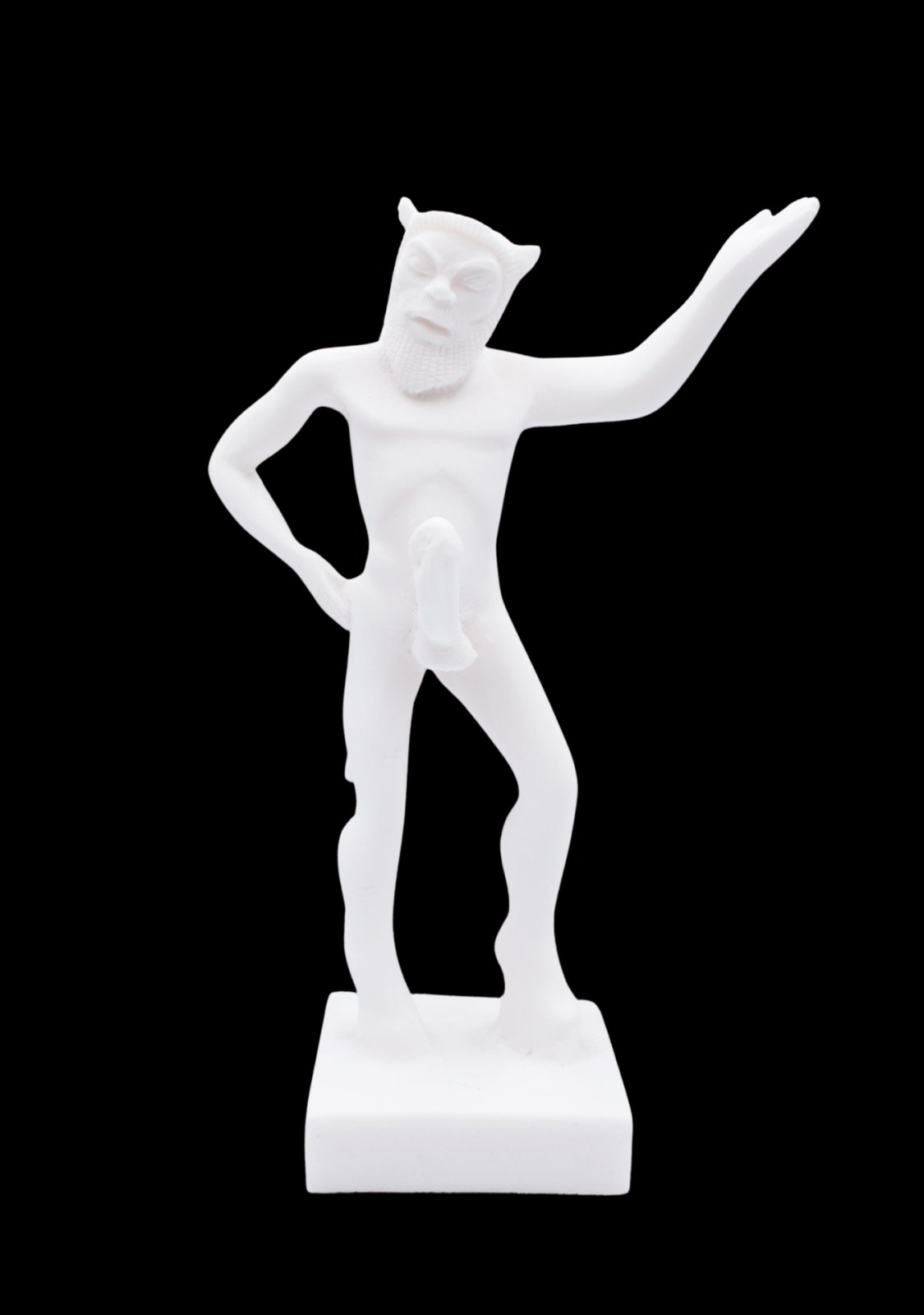 Satyr, small greek alabaster statue